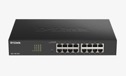 D-LINK SWITCH 16 PORTE GIGABIT SMART MANAGED, FANLESS, 802.1Q VLAN, 802.1p QoS, 11 RACKMOUNT INSTALLATION