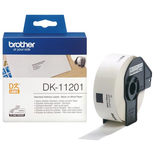 BROTHER DK-11201 ETICHETTE MULTIUSO ADESIVE 400PZ 29X90mm BIANCHE