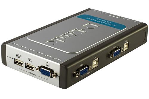 D-LINK DKVM-4U SWITCH 4 PORTE USB KVM 2 CAVI INCLUSI