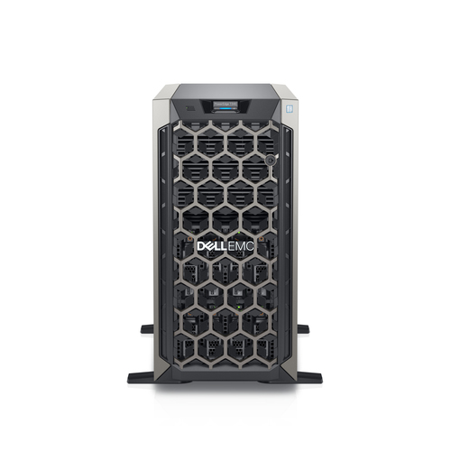 DELL PE T340/CHASSIS 4 X 3.5 HOTPLUG/XEON E-2124/8GB/1X1TB/NO RAILS/BEZEL/DVD RW/ON-BOARD LOM DP/IDRAC9 EXP/495W/3Y BASIC ONS