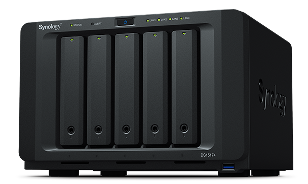 SYNOLOGY NAS 5 BAY SSD/HDD 2,5/3,5 SATA 8GB DDR3 GIGALAN USB3.0 PCIE2.0