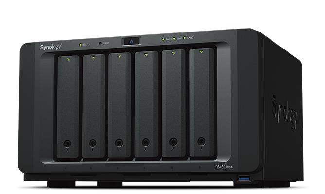 SYNOLOGY NAS 6 BAY HDD/SSD SATA 2,5/3,5 SATA, CPU INTEL XEON QUADCORE 2.2GHZ, 8GB SODIMM DDR4 ECC, 2 GIGABIT LAN, 3xUSB 3.0, 2x ESATA, SLOT PCIE