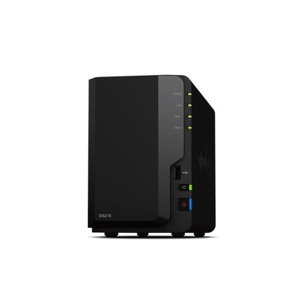 SYNOLOGY NAS 2 BAY SSD/HDD 2,5/3,5 2GB DDR4 GIGALAN USB3.0