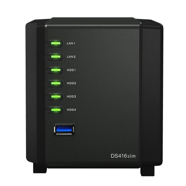 SYNOLOGY NAS 4 BAY HDD 2,5 SATA3 512MB DDR3 GIGALAN USB3.0
