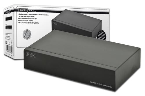 SPLITTER VIDEO VGA 500 MHZ 1 COMPUTER - 8 MONITOR
