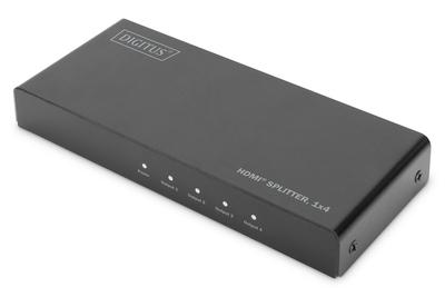 SPLITTER HDMI 4K, 1X4, 4K2K, UHD/60HZ EDID, HDR, HDCP, NERO