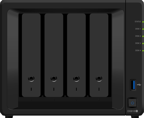 SYNOLOGY NAS 4 BAY HDD SATA2 MAX 6TB 4GB DDR3 GIGABIT USB3.0