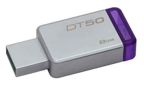 KINGSTON PEN DISK 8GB USB3.1 DATATRAVELER 50 METAL CASE