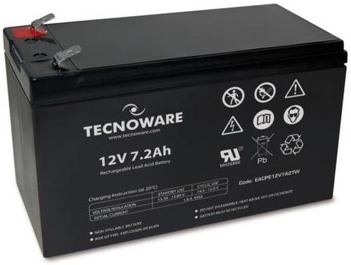 TECNOWARE BATTERIA PER UPS 12VDC 7,2AH ERMETICA AL PIOMBO