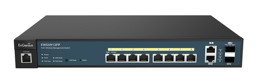 ENGENIUS SWITCH POE 10 PORTE GbE PoE.at 130W 2GbE 2SFP L2 13i