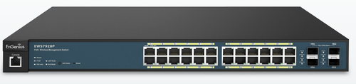 ENGENIUS SWITCH POE 24 PORTE GbE PoE.af/at(+) 185W 4xSFP L2 19i
