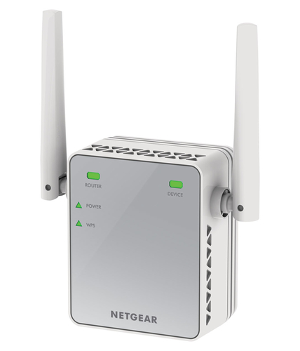 NETGEAR WIFI RANGE EXTENDER ESSENTIALS 300 MBIT B/G/N, PORTA ETHERNET, 2 ANTENNE ESTERNE