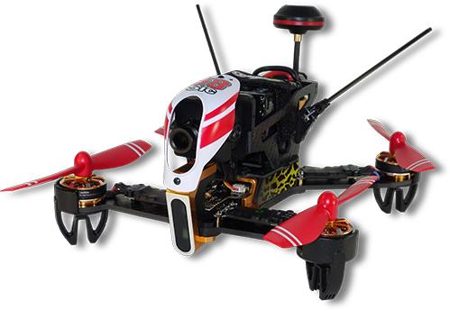 DROMOCOPTER DRONE RACING PRONTO AL VOLO 8MIN  RADIOCOMANDO DEVO-7 E SET ELICHE DI SCORTA