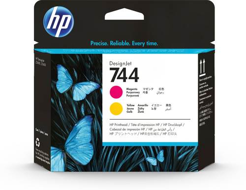 HP CART INK 744 GIALLO + MAGENTA