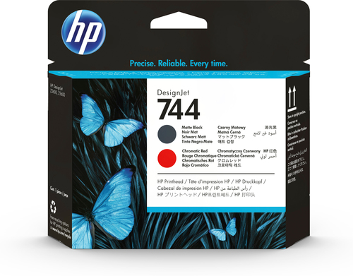 HP CART INK 744 NERO OPACO + ROSSO