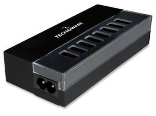 TECNOWARE CARICABATTERIE HD SERIES DA CASA/UFFICIO, MULTI USB, TENSIONE DINGRESSO 230VCA 50/60 HZ, 8 PORTE USB, USCITA USB: 5VCC - 2.1 A (10W MAX)