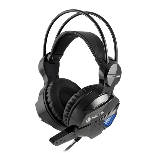 NGS CUFFIA GAMING HEADSET LED CON MICROFONO, 50MM, 20HZ-20KHZ, JACK 3,5 CAVO 2,2MT