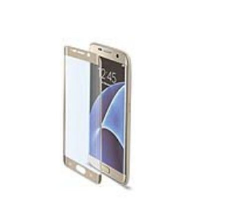 CELLY SCREEN PROTECTOR IN VETRO TEMPERATO PER GALAXY S7 EDGE, GOLD