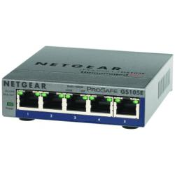 NETGEAR SWITCH 5 PORTE GIGABIT CASE METALLICO PROSAFE PLUS