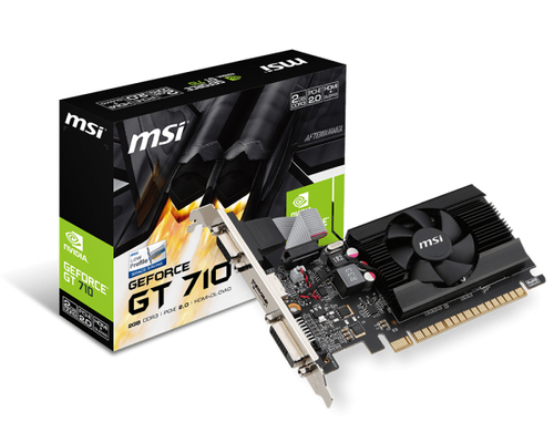 MSI VGA GT 710 2GB DDR3 DL DVI HDMI VGA FAN LP