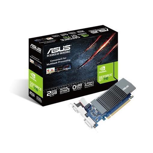 ASUS VGA NVIDIA GT710 2GB GDDR5 VGA DVI HDMI LOW PROFILE