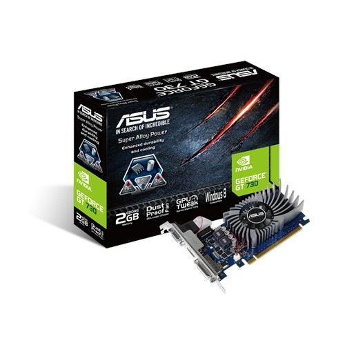 ASUS VGA GT730 2GB GDDR5 VGA DVI HDMI LOW PROFILE VENTOLA
