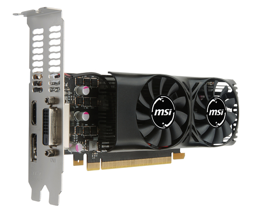 MSI VGA GEFORCE GTX 1050 TI 4GT LP PCI-E DVI HDMI ATX DUAL FAN LOW PROFILE