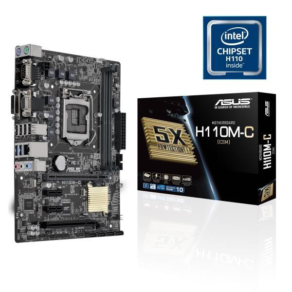 ASUS MB H110M-C/CSM MICRO ATX LGA1151  DVI