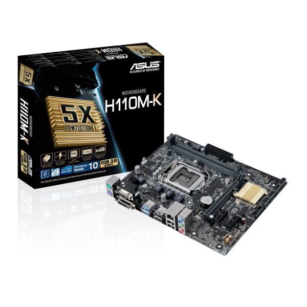 ASUS MB H110M-K MATX DDR4 LGA1151