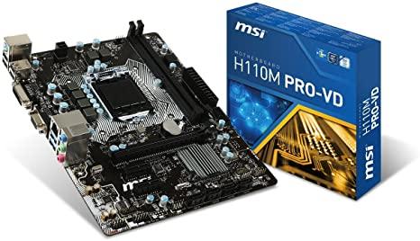 MSI MB H110M PRO-VD LGA1151 2*DDR4 PCI-E 4*SATAIII 4*USB3 RENEWED BULK NO MASCHERINA/CAVI