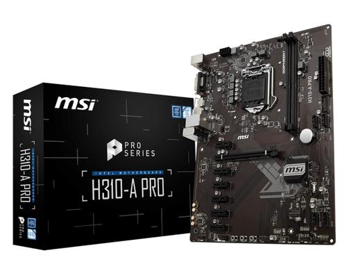 MSI MB H310-A PRO ATX LGA1151 8TH GEN DDR4 PCI-EX1/16 SATA3 USB3.0 PRO SERIES