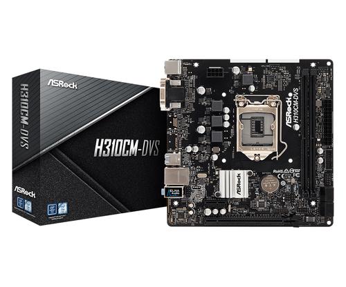 ASROCK MB H310CM-DVS 2DDR4 PCI-E X16 DVI MATX