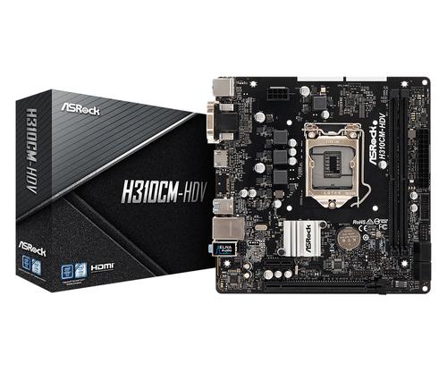 ASROCK MB H310CM-HDV 2DDR4 PCI-E X16 DVI/HDMI MATX