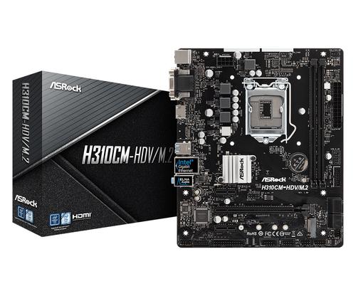 ASROCK MB H310CM-HDV/M.2 2DDR4 PCI-E X16 M2 DVI/HDMI MATX