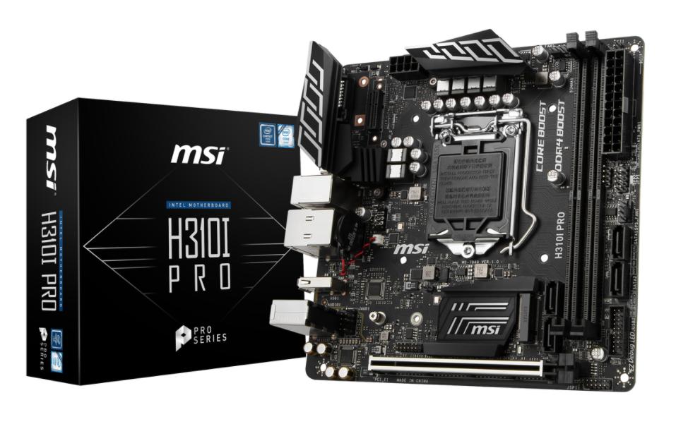 MSI MB H310I PRO ITX LGA1151 8TH GEN DDR4 PCI-EX1/16 M.2 SATA3 USB3.0 PRO SERIES
