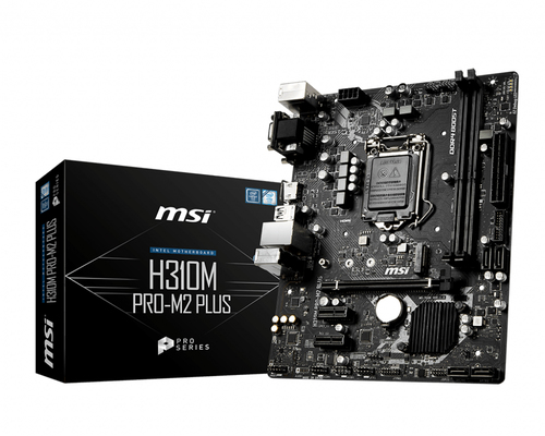 MSI MB H310M PRO-M2 PLUS MATX LGA1151 8TH GEN DDR4 PCI-EX/16 M.2 SATA3 USB3.0 VGA DVI HDMI