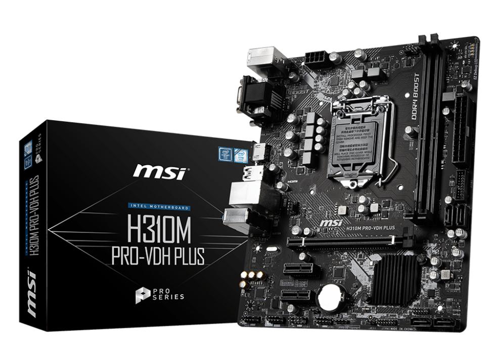 MSI MB H310M PRO-VDH PLUS MATX 1151 8TH GEN PRO SERIES