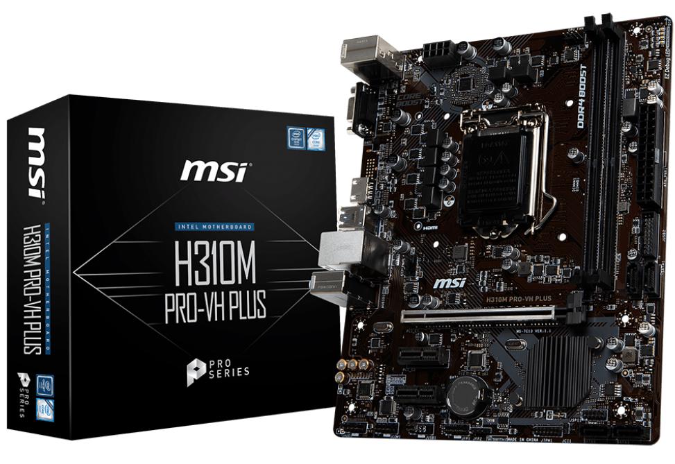 MSI MB H310M PRO-VH PLUS MATX LGA 1151 8TH GEN DDR4