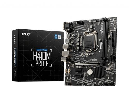 MSI MB H410M PRO-E 1200, 2DDR4, 1PCI-Ex16, VGA/DVI/HDMI MATX , COMET LAKE