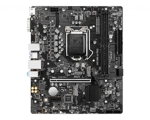 MSI MB H510M-A PRO, LGA 1200, 2DDR4, 1PCI-Ex16, 2M2, 4SATA3 COMET, ROCKET LAKE