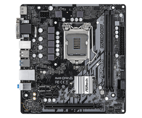 ASROCK MB H510M-HDV, LGA 1200, 2DDR4, 4SATA3,  VGA/DVI/HDMI, MATX, ROCKET LAKE