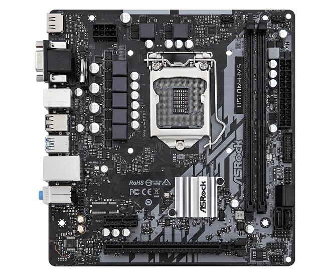 ASROCK MB H510M-HVS R2.0 LGA 1200, 4SATA3, VGA/HDMI, MATX, ROCKET LAKE