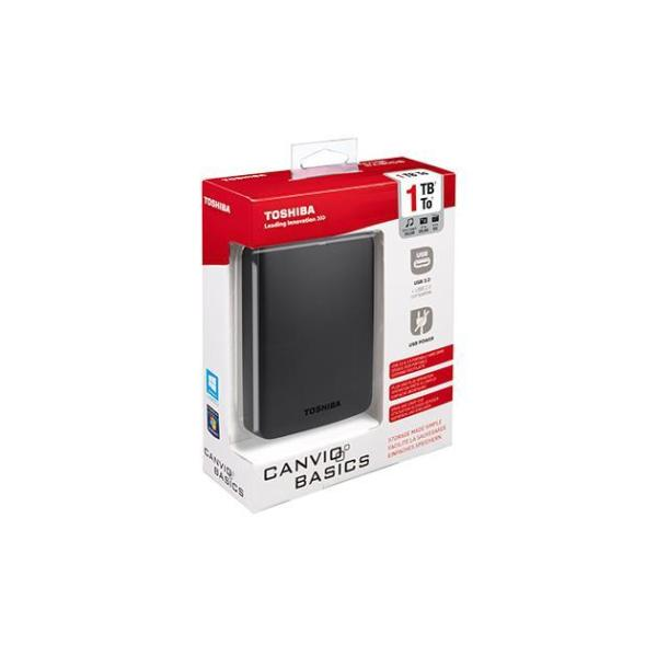 TOSHIBA HDD EXT CANVIO BASICS 2TB 2,5 USB3.0 BLACK