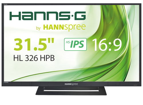 HANNSG MONITOR 31.5  LED FULL HD 16:9  HS-IPS 1920x1080 300CD/M2  178x178 8MS D-SUB HDMI  USB Built-In Stereo Speakers 8W + 8W