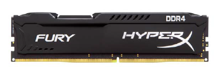 KINGSTON RAM HYPERX FURY DIMM 16GB DDR4 2400MHZ CL15 BLACK