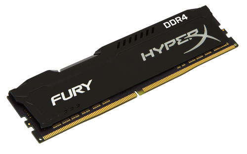 KINGSTON RAM HYPERX FURY DIMM 4GB DDR4 2400MHZ CL15 BLACK