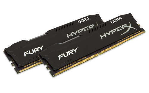 KINGSTON RAM HYPERX FURY DIMM 16GB (2X8GB) DDR4 2666MHZ CL16 BLACK