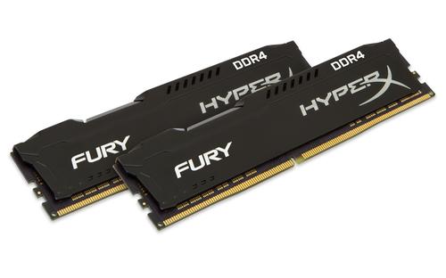 KINGSTON RAM HYPERX FURY DIMM 16GB (2X8GB) DDR4 2666MHZ CL16 BLACK