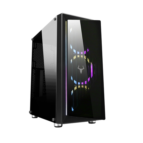ITEK CASE GAMING OPTOIX MID-TOWER 2XUSB 3.0, 3X120MM RGB FAN FRONT, SIDE AND FRONT PANEL TEMP. GLASS