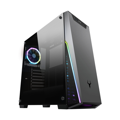 ITEK CASE GAMING T-MASK MID-TOWER ATX 2XUSB3.0, 1X120MM RGB FAN REAR, SIDE PANEL TEMP. GLASS